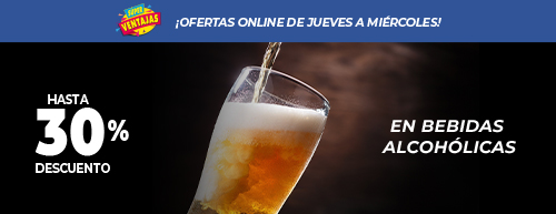 30% OFF Bebidas Alcohólicas