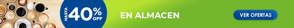 Hasta 40% en Almacén