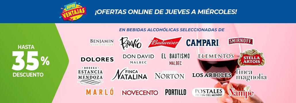 Oferta a partir del 17 de Set - Hasta 35% Bebidas