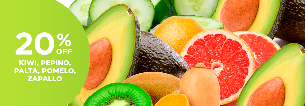20% en Frutas y Verduras