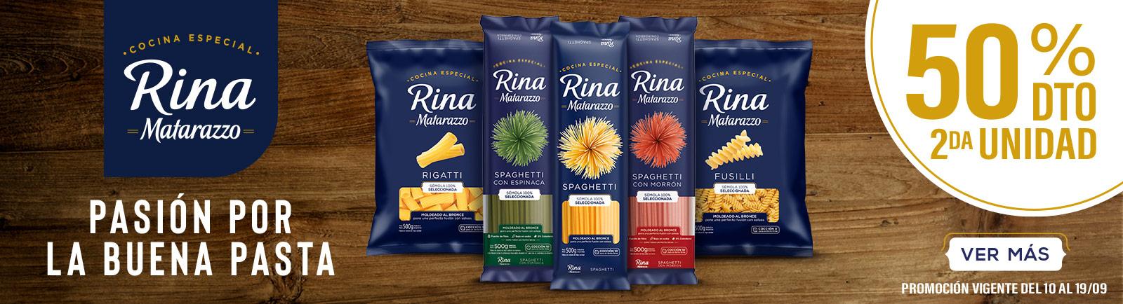Pastas Rina - 50% en 2da unidad