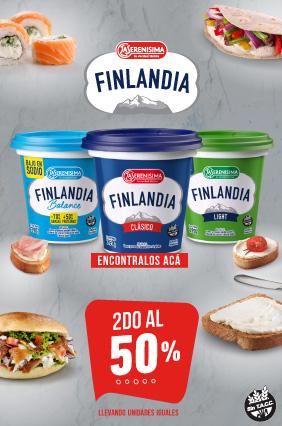 Finlandia 2ndo al 50%