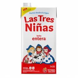 Leche L.V. Las Tres Niñas Entera con Vitaminas A y D x 1 Lt.