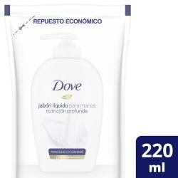 Jabón Líquido para Manos Dove Cremoso Repuesto x 220 cc.