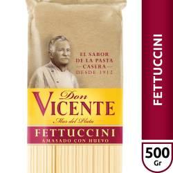 Fideos Fettuccini al Huevo Don Vicente x 500 g.