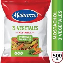 Fideos Mostachol 3 Vegetales Matarazzo x 500 g.