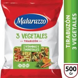 Fideos Tirabuzón 3 Vegetales Matarazzo x 500 g.