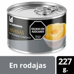 Ananá Natural en Rodajas La Anónima x 227 g.