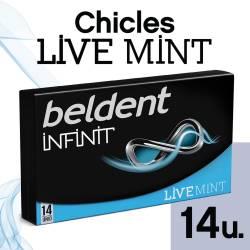 Chicles Beldent Menta Infinit Live x 14 un. x 26 g.