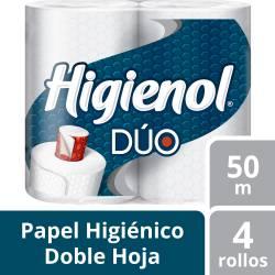 Papel Higiénico D.H. Higienol Dúo 50 m x 4 un. x 20 m2