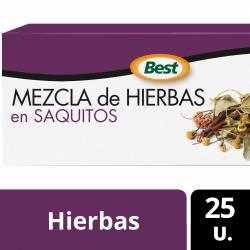 Té en Saquitos Mezcla de Hierbas Best x 25 un.