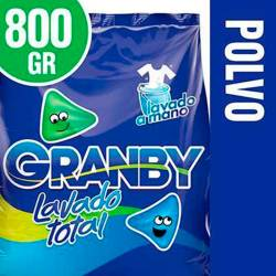 Jabón Polvo Regular Granby Lavado Total x 800 g.