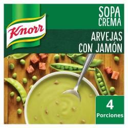 Sopa Crema Knorr Arvejas con Jamón x 64 g.