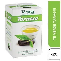 Té en Saquitos Taragüí Verde x 20 un.
