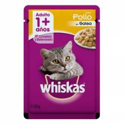 Alimento para Gato Adulto Pouch Pollo Whiskas x 85 g.