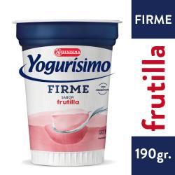 Yogur Firme Fortificado Frutilla Yogurisimo x 190 g.