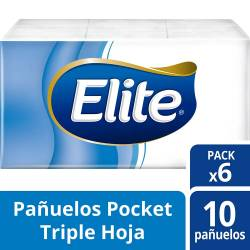 Pañuelos Papel Elite Pack 6x10 x 60 un.