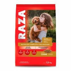 Alimento para Perro Razas Pequeño Carne Raza x 1,5 kg.