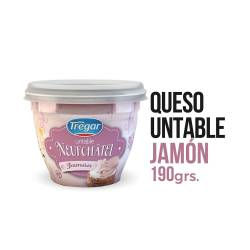Queso Untable Neufchatel Tregar Jamón x 190 g.