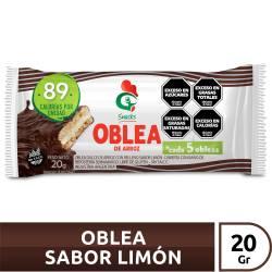 Oblea de Arroz Limón Gallo Snacks Baño Chocolate Blanco x 20 g.