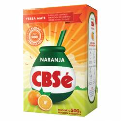 Yerba Mate con Palo CBSé Naranja x 500 g.