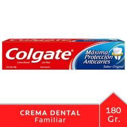 Crema Dental Colgate Máxima Protección Anticaries x 180 g.