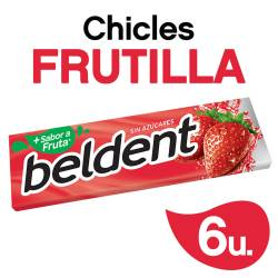 Chicles Beldent Frutilla x 10 g.
