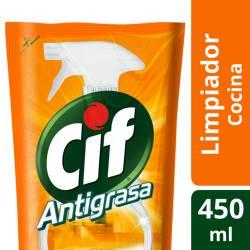 Limpiador Líquido Antigrasa Cif Doy Pack x 450 cc.