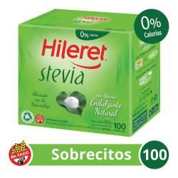 Endulzante Sobres Hileret Stevia x 100 un.