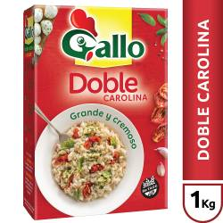Arroz Doble Carolina Gallo Estuche x 1 Kg.