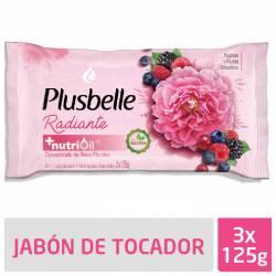 Jabón de Tocador Plusbelle Belleza Radiante x 3 un. x 375 g.