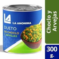 Choclo y Arvejas La Anónima x 300 g.