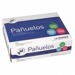 Pañuelos de Papel La Anónima Caja x 75 un.