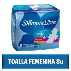Toalla Higiénica Siempre Libre Normal con Alas Tanga - Termo control x 8 un.