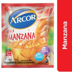 Polvo para preparar jugo Arcor Manzana x 20 g.