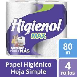 Papel Higiénico H.S. Higienol 80 m x 4 un. x 32 m2