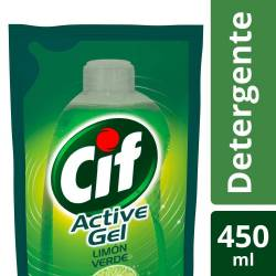 Detergente Líquido Active Gel Cif Doy Pack x 450 cc.