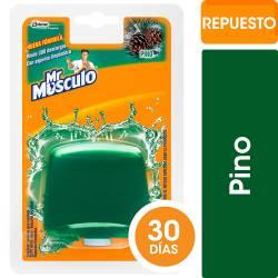 Canasta Líquida para Inodoros Repuesto Mr. Musculo Pino x 50 cc.