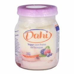 Yogur Entero Batido Dahi Frutos del Bosque x 200 g.
