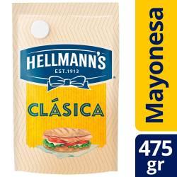 Mayonesa Hellmanns Clásica Doy Pack x 475 g.