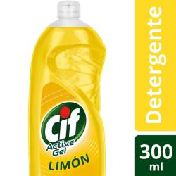 Detergente Líquido Active Gel Cif Limón x 300 cc.