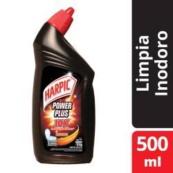 Gel Limpia Inodoros Desinfectante Harpic Power Plus x 500 cc.
