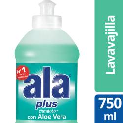Detergente Líquido Ala Aloe Plus x 750 cc.
