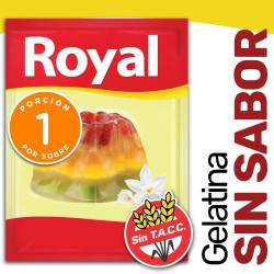 Gelatina en Polvo Sin Sabor Royal x 14 g.