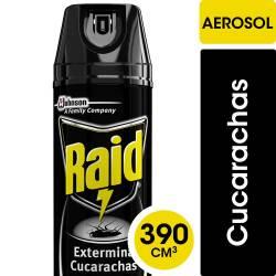 Insecticida Aerosol Exterminador de Cucarachas Raid x 390 cc.