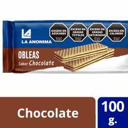 Obleas Dulces con Relleno Chocolate La Anónima x 100 g.