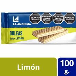 Obleas Dulces con Relleno Limón La Anónima x 100 g.