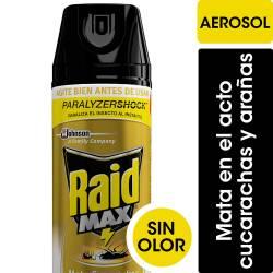 Insecticida Aerosol Cucarachas y Arañas Raid Max x 360 cc.