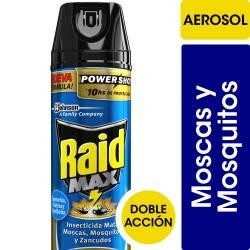 Insecticida Aerosol Mata Moscas y Mosquitos Raid Doble Acción x 360 cc.
