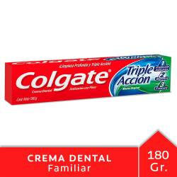 Crema Dental Colgate Triple Acción x 180 g.